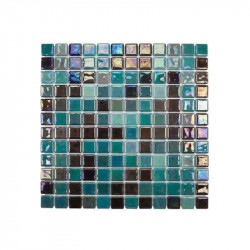 emaux-de-verre-25x25-mm-degrade-de-vert-avec-du-noir-irise