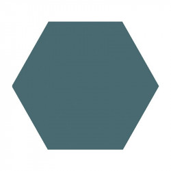 Carrelage hexagonal 14x16 vert canard mat