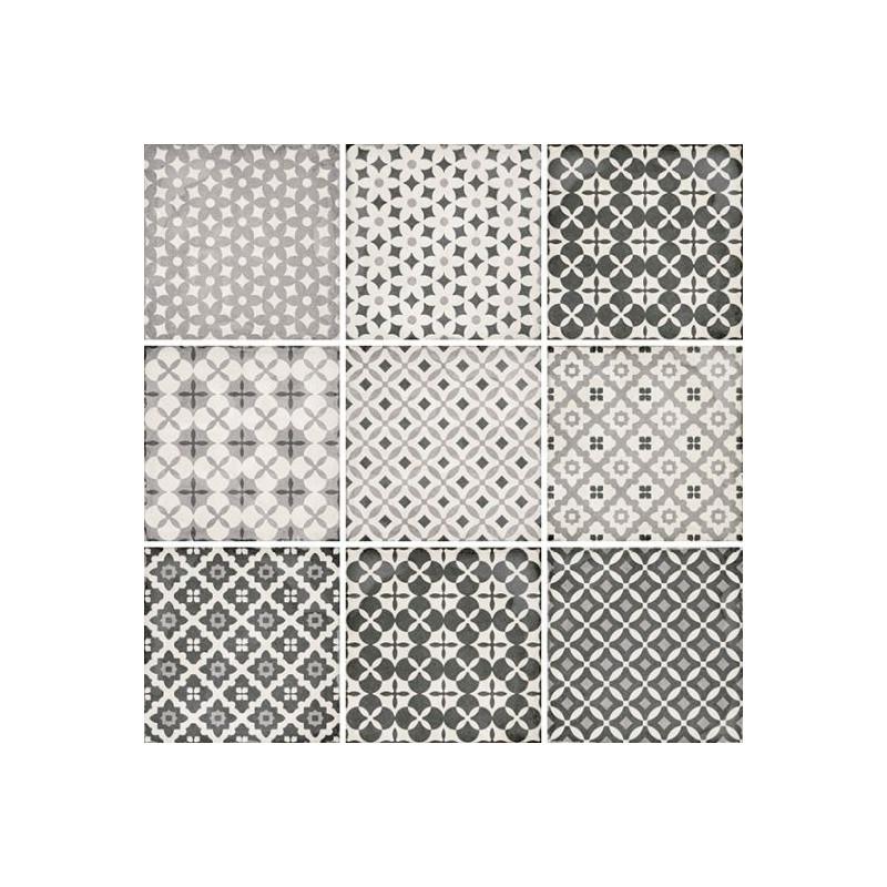 Carrelage-decor-ciment-art-nouveau-alameda-8-motifs-effet-patchwork-20x20-grey