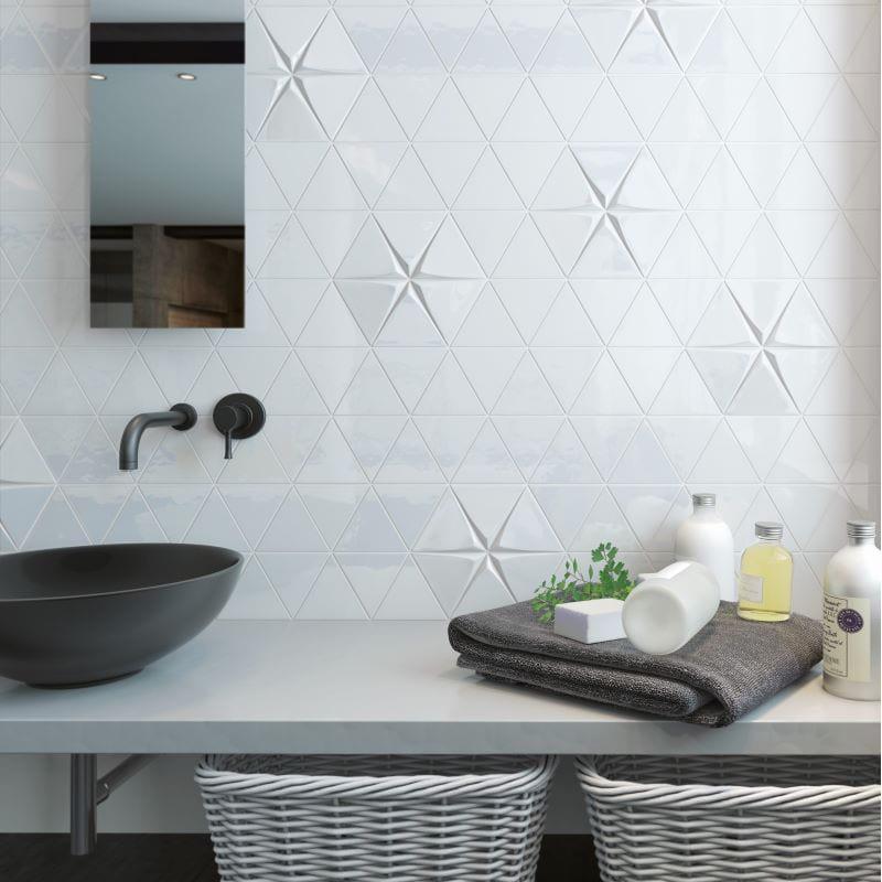 carrelage-mural-salle-de-bains-triangle-relief-blanc-brillant-tirol 108x124