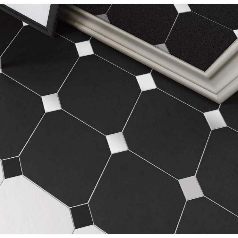carrelage-octogonal-noir-blanc-mat-a-cabochon-noir-et-blanc-mat-20x20