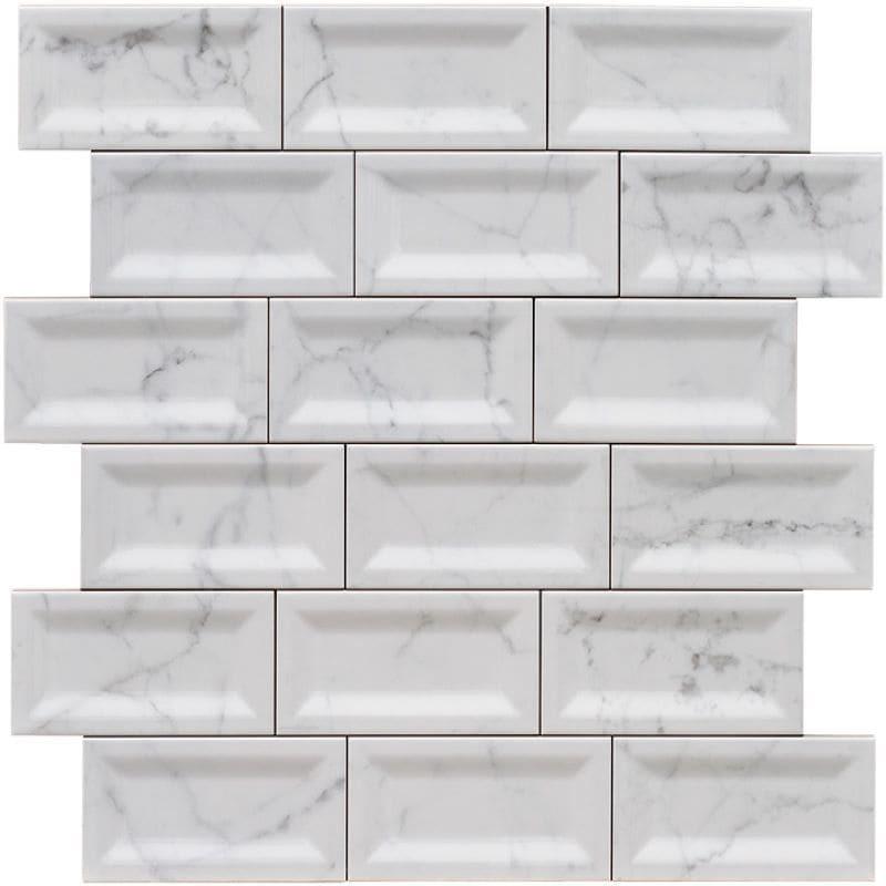 faience-metro-biseauté-intérieur-75x150-imitation-marbre-blanc-brillant-pose-decalée
