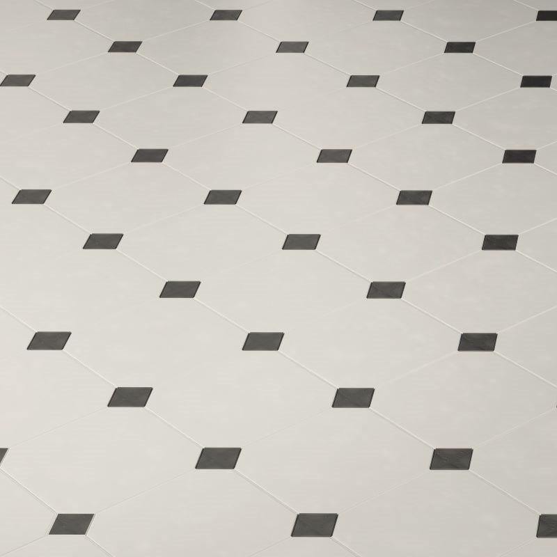 carrelage-octogonal-blanc-mat-a-cabochon-noir-octagon-20x20 3