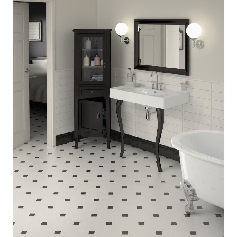 carrelage-octogonal-blanc-mat-a-cabochon-noir-octagon-20x20