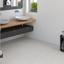 Sol-salle-de-bains-carrelage-aspect-terrazzo-blanc-mat-60x60-Miscela-nacar-rectifié