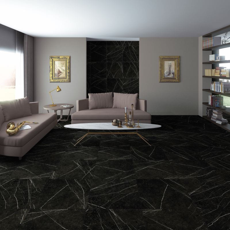 sol-sejour-carrelage_Neso-Negro_60x60_imitation marbre-noir-mat