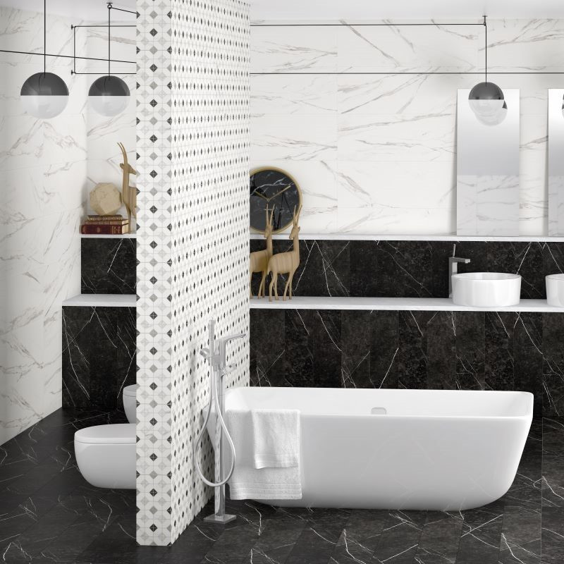 murs-salle-de-bains-carrelage_Neso-Negro_60x60_imitation marbre-noir-mat