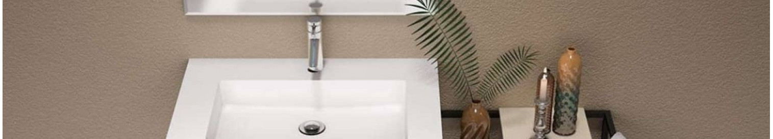 Receveurs de douche & Meubles de salle de bains noir et blanc - C3D